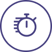Purple time icon