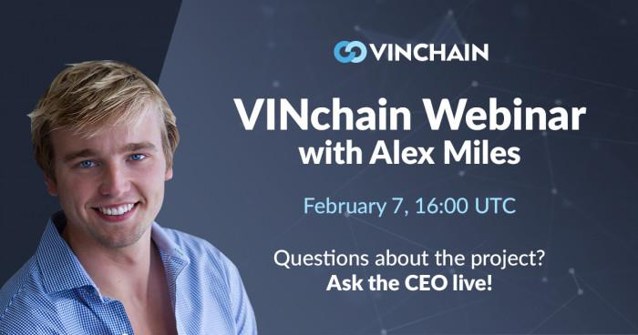 vinchain webinar with alex is just started!