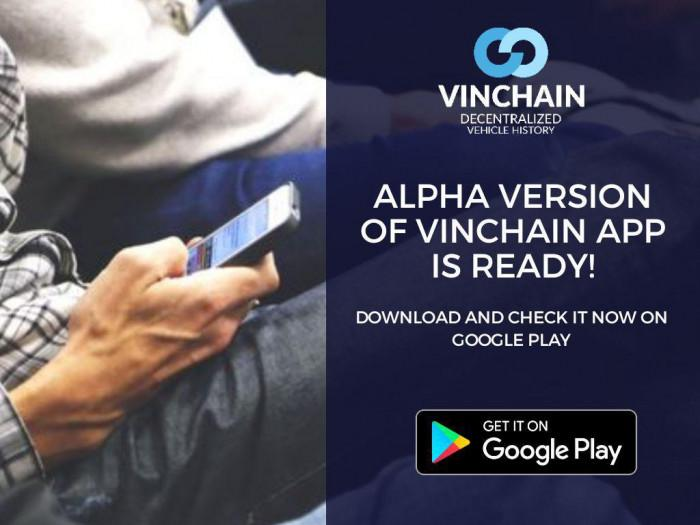 we are keeping our promises - alpha version of vinchain app is ready!