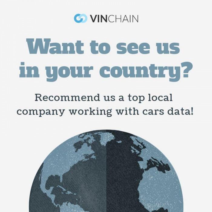 want to see vinchain in your country?