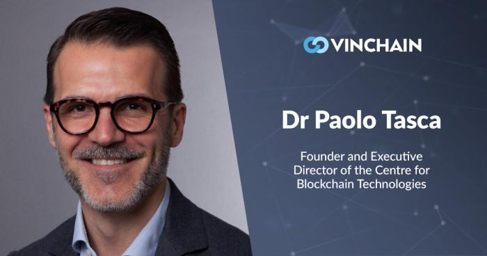 vinchain is honored to announce a high-level specialist in our team, dr paolo tasca!