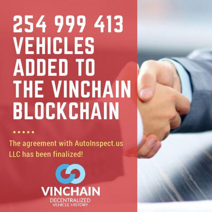 255 million vehicles added to the vinchain blockchain!