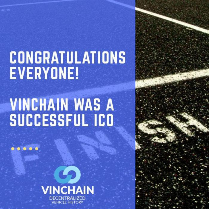 congratulations everyone! vinchain was a successful ico!