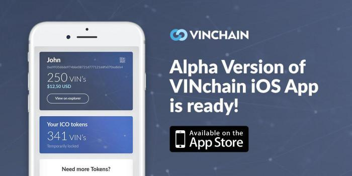 alpha version of vinchain ios app is ready and available!