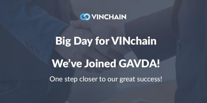 big day for vinchain - we've joined gavda!