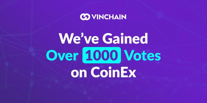 we've gained over 1000 votes on coinex
