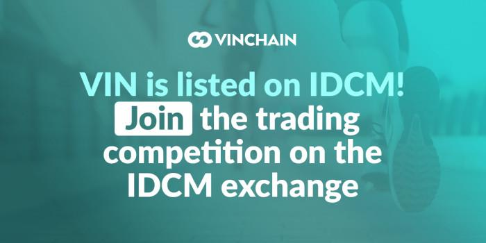 vin is listed on idcm! join the trading competition and win tokens!