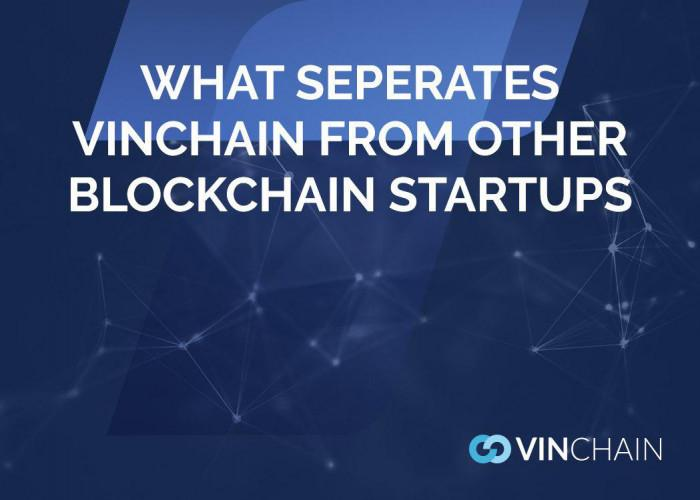 what separates vinchain from other blockchain startups